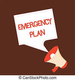 Conceptual hand writing showing Emergency Plan. Business photo text Procedures for response to major emergencies Be prepared