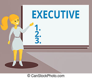Conceptual hand writing showing Executive. Business photo ...