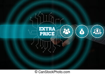 Conceptual hand writing showing Extra Price. Business photo ...