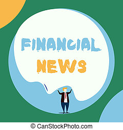 Conceptual hand writing showing Financial News. Business ...