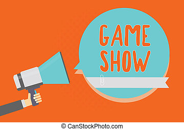 Conceptual hand writing showing Game Show. Business photo ...