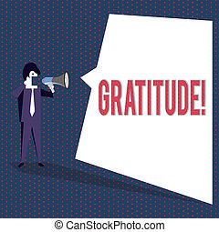 Conceptual hand writing showing Gratitude. Business photo...