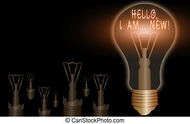 Conceptual hand writing showing Hello I Am New. Business ...