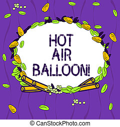 Conceptual hand writing showing Hot Air Balloon. Business ...