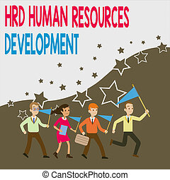 Conceptual hand writing showing Hrd Huanalysis Resources ...