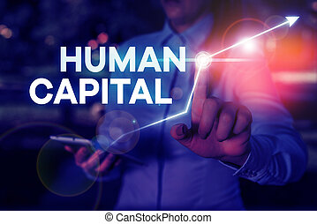 Conceptual hand writing showing Huanalysis Capital. Business photo text Intangible Collective Resources Competence Capital Education.