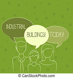 Conceptual hand writing showing Industrial Buildings. ...