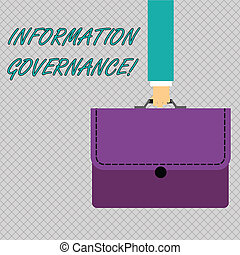 Conceptual hand writing showing Information Governance. ...