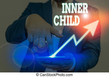 Conceptual hand writing showing Inner Child. Business photo ...