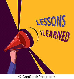 Conceptual hand writing showing Lessons Learned. Business...