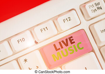 Conceptual hand writing showing Live Music. Business photo ...