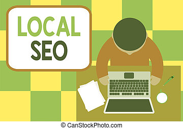 Conceptual hand writing showing Local Seo. Business photo ...