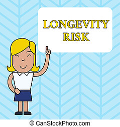 Conceptual hand writing showing Longevity Risk. Business ...