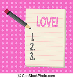 Conceptual hand writing showing Love. Business photo text ...