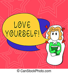 Conceptual hand writing showing Love Yourself. Business ...