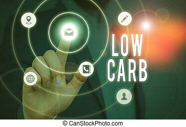 Conceptual hand writing showing Low Carb. Business photo ...