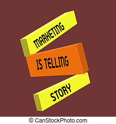 Conceptual hand writing showing Marketing Is Telling Story. Business photo text Breathe Life into the Brand Product or service