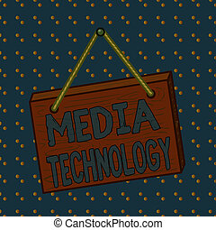 Conceptual hand writing showing Media Technology. Business ...
