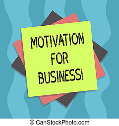 Conceptual hand writing showing Motivation For Business. Business photo text Desire and energy be continually committed to a job Multiple Layer of Sheets Color Paper Cardboard with Shadow.