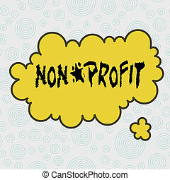 Conceptual hand writing showing Non Profit. Business photo ...