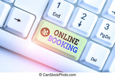 Conceptual hand writing showing Online Booking. Business ...
