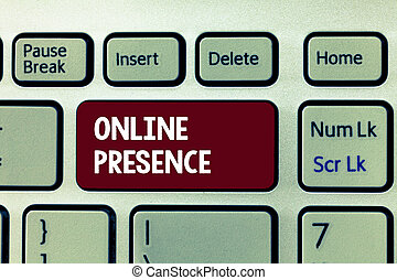 Conceptual hand writing showing Online Presence. Business ...