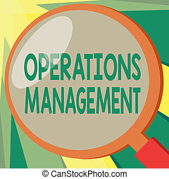 Conceptual hand writing showing Operations Management....