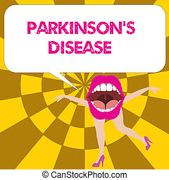Conceptual hand writing showing Parkinson s is Disease....