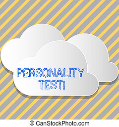 Conceptual hand writing showing Personality Test. Business ...