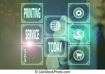 Conceptual hand writing showing Printing Service. Business ...