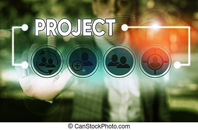Conceptual hand writing showing Project. Business photo ...