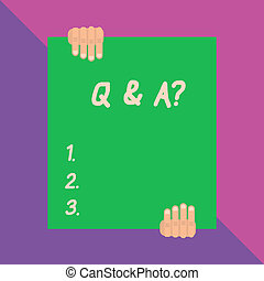 Conceptual hand writing showing Q And A Question. Business ...