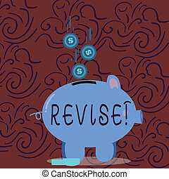 Conceptual hand writing showing Revise. Business photo...
