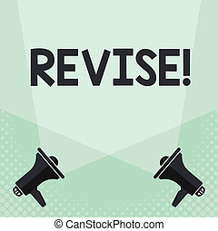 Conceptual hand writing showing Revise. Business photo text...