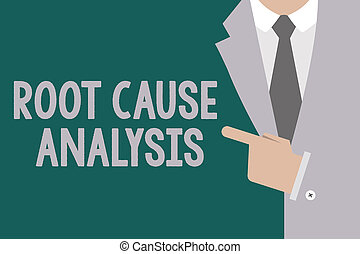 Conceptual hand writing showing Root Cause Analysis. Business photo text Method of Problem Solving Identify Fault or Problem