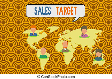 Conceptual hand writing showing Sales Target. Business photo...