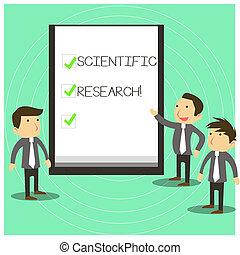 Conceptual hand writing showing Scientific Research....