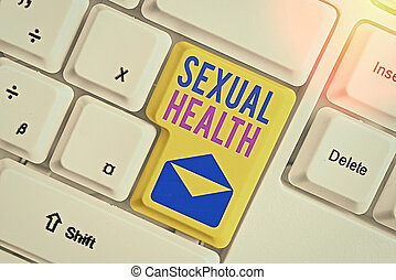 Conceptual hand writing showing Sexual Health. Business ...