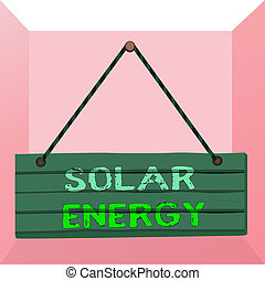 Conceptual hand writing showing Solar Energy. Business photo...