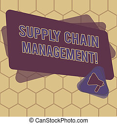 Conceptual hand writing showing Supply Chain Management. ...