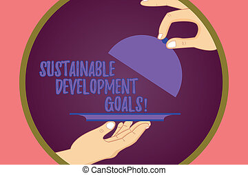 Conceptual hand writing showing Sustainable Development ...