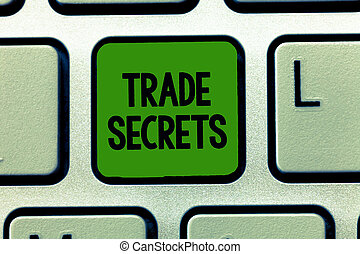 Conceptual hand writing showing Trade Secrets. Business ...