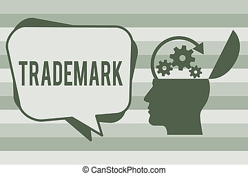 Conceptual hand writing showing Trademark. Business photo text Legally registered Copyright Intellectual Property Protection