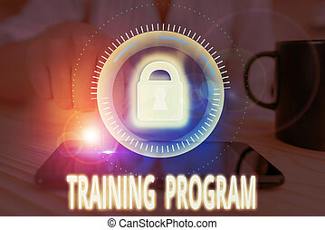Conceptual hand writing showing Training Program. Business ...