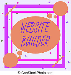 Conceptual hand writing showing Website Builder. Business ...