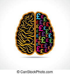 image of brain with pound symbol