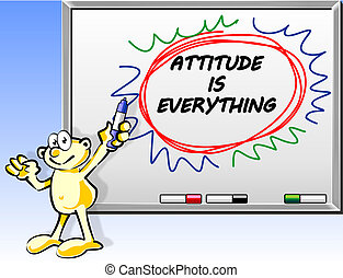 Attitude is everything in whiteboard