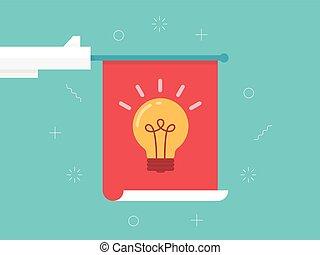 Conceptual illustration - light bulb idea vector...