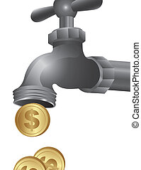 conceptual illustration of a tap