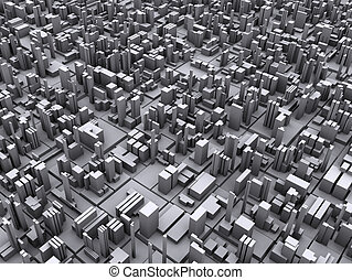 Conceptual Illustration of City